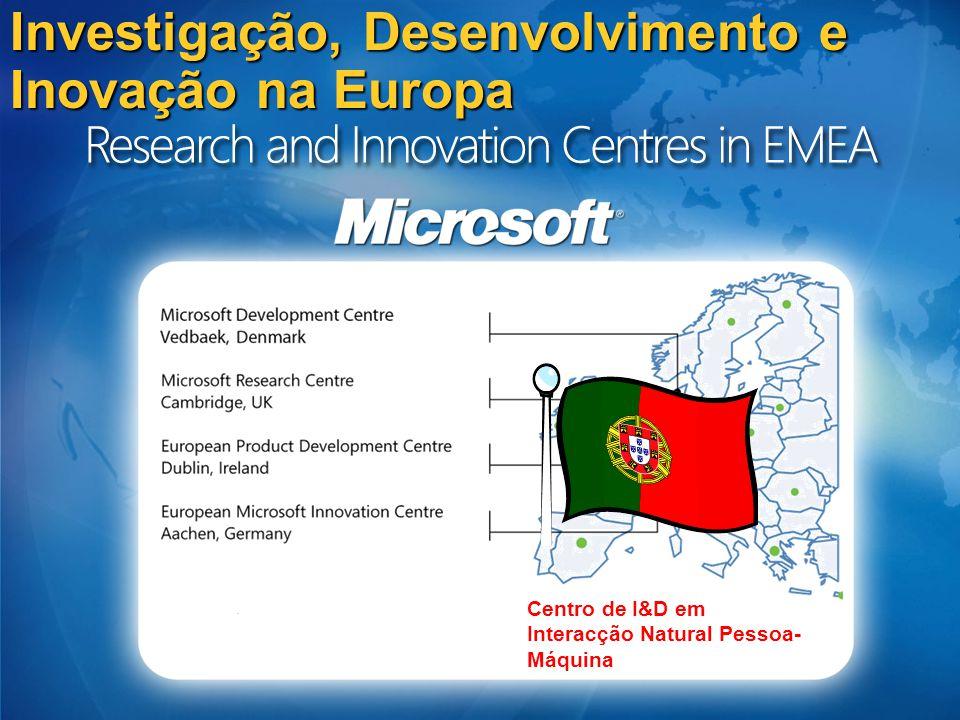 Iniciativa Microsoft de I&D em Portugal – Porquê 1º Centro do género da Microsoft em todo o mundo.