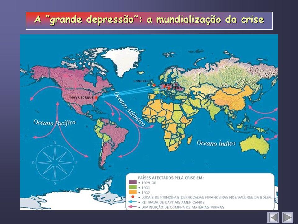 A grande depressão: a mundialização da crise