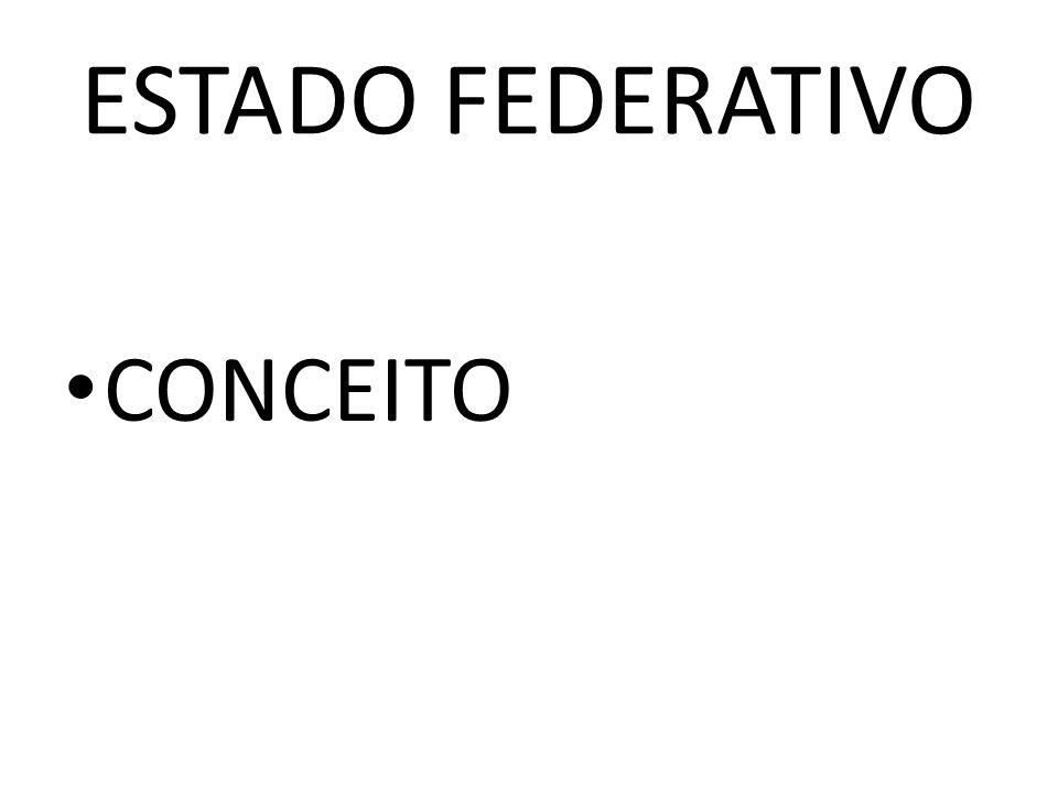 ESTADO FEDERATIVO CONCEITO