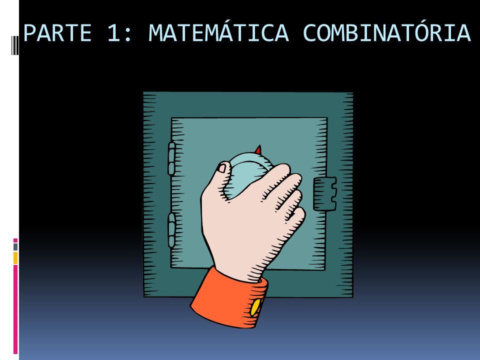 PARTE 1: MATEMÁTICA COMBINATÓRIA