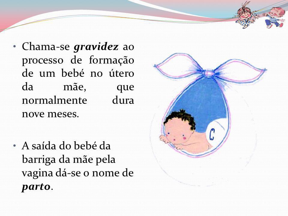 A gravidez Tal como tu, todas as crianças nascem de uma união entre o pai e a mãe num momento muito especial.