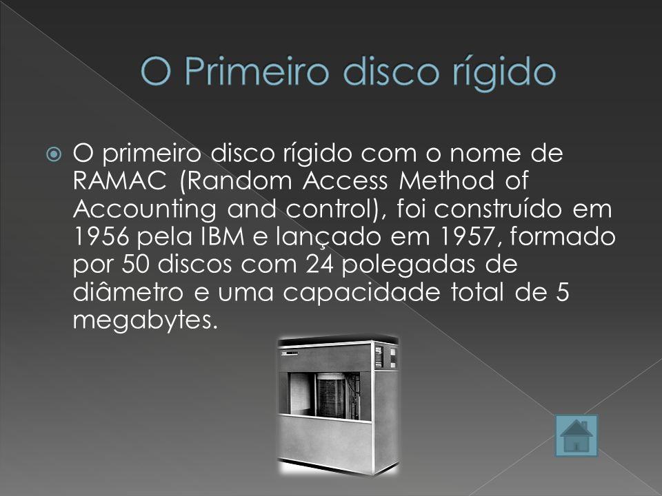 O Disco Rígido ou HD (Hard Disk), é onde o computador armazena toda a informação. É uma memoria permanente, que quando o computador é desligado todas