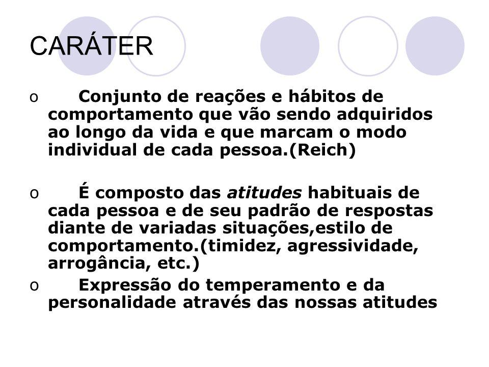 Processo de formação do caráter, temperamento e personalidade.