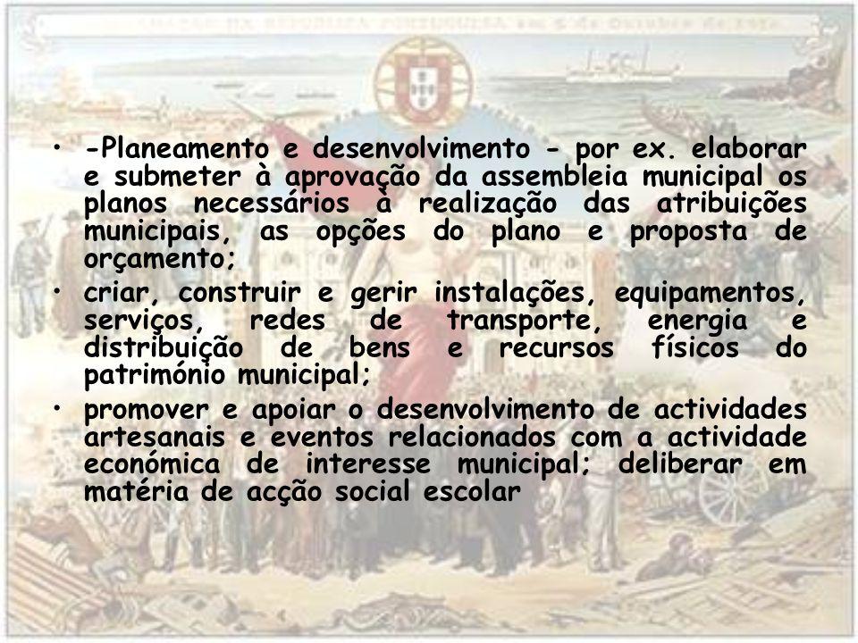 -Planeamento e desenvolvimento - por ex.