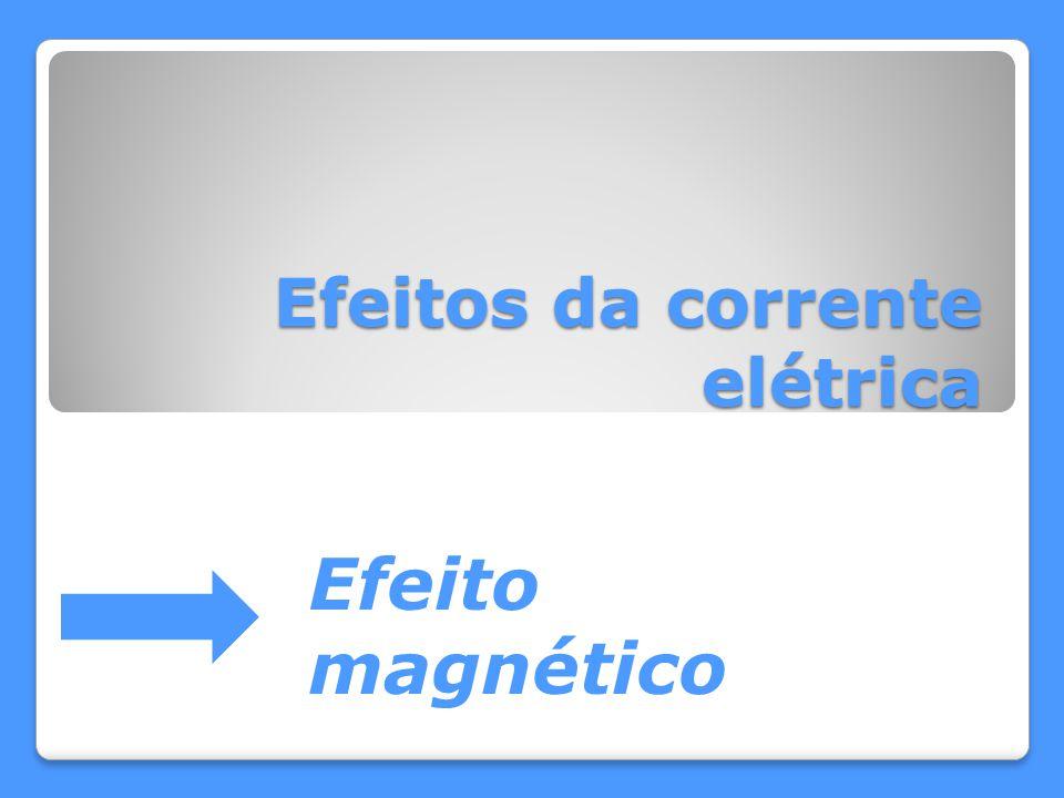 Efeitos da corrente elétrica Efeito magnético