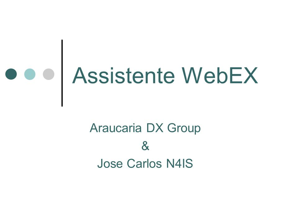 Assistente WebEX Araucaria DX Group & Jose Carlos N4IS