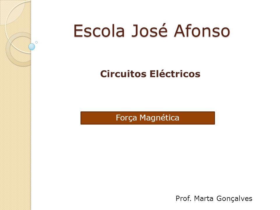 Escola José Afonso Circuitos Eléctricos Força Magnética Prof. Marta Gonçalves
