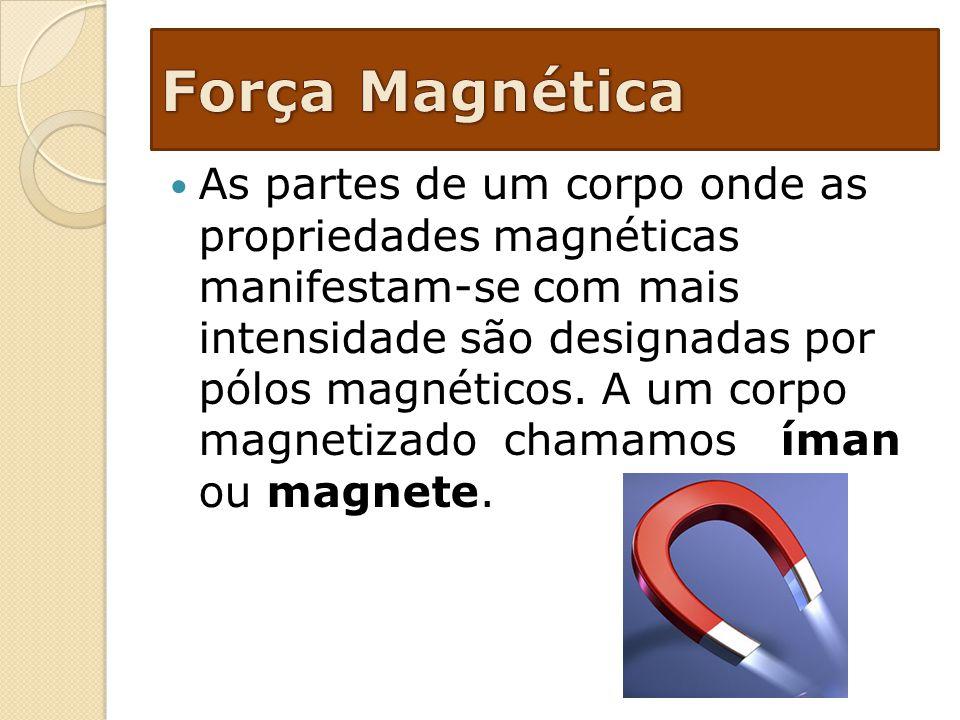 As partes de um corpo onde as propriedades magnéticas manifestam-se com mais intensidade são designadas por pólos magnéticos. A um corpo magnetizado c