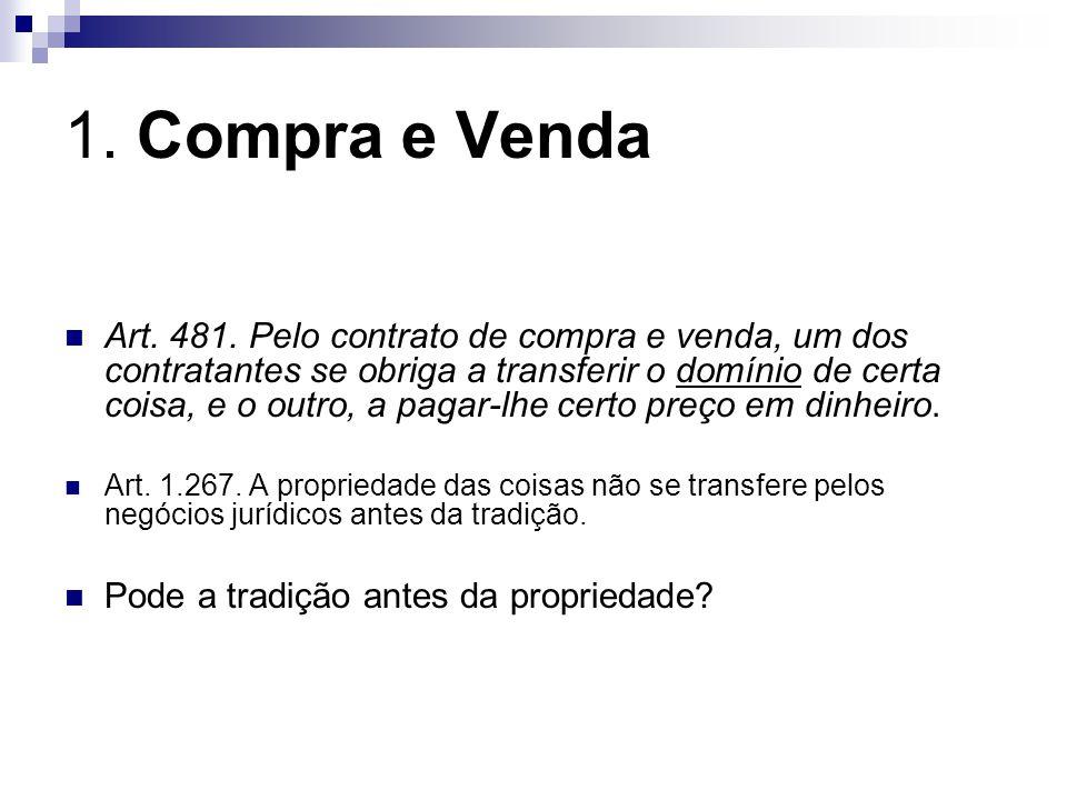 1.Compra e Venda Art. 481.