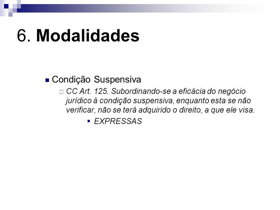 6.Modalidades Condição Resolutiva Art. 127.