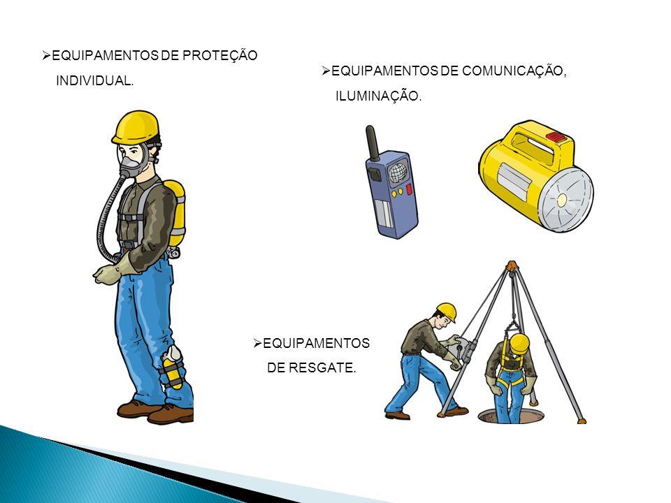 EQUIPAMENTOS DE COMUNICAÇÃO, ILUMINAÇÃO. EQUIPAMENTOS DE PROTEÇÃO INDIVIDUAL.