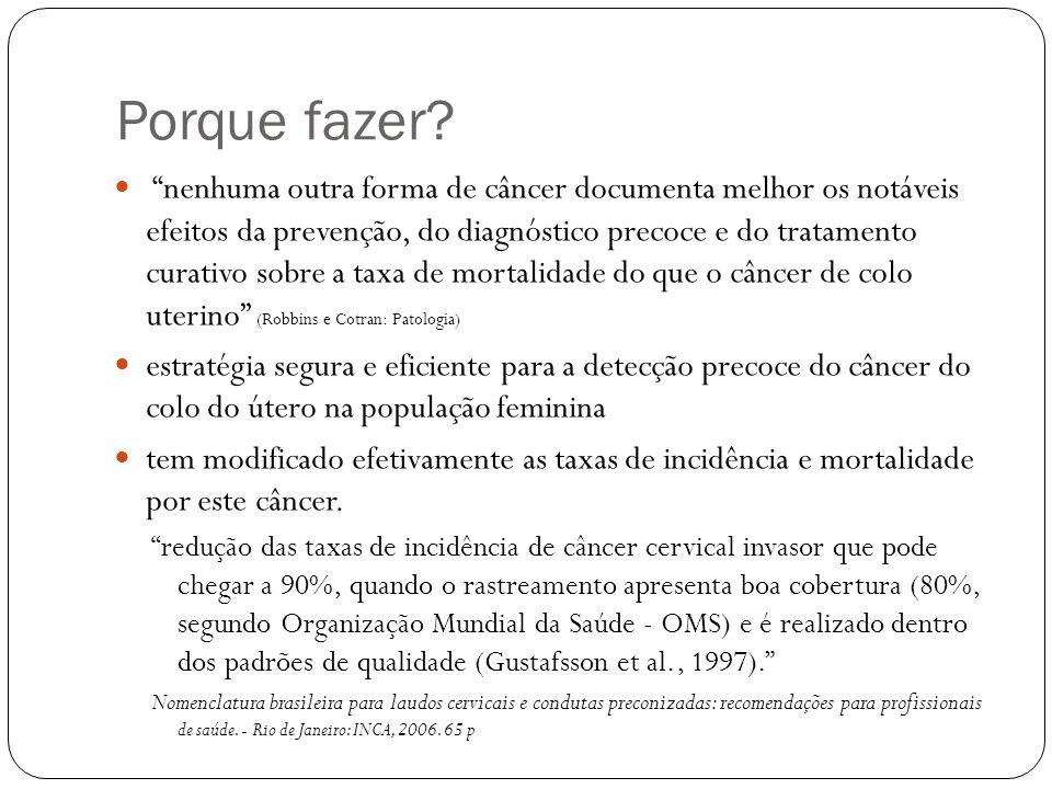 A RIGOR, NENHUMA MULHER DEVERIA MORRER DE CÂNCER DE COLO UTERINO, QUE É UMA DOENÇA 100% PREVENÍVEL Rotinas em Ginecologia, 6ª ed.