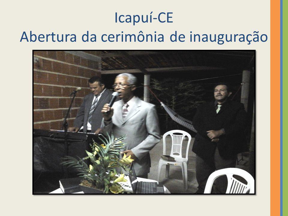 Icapuí-CE Abertura da cerimônia de inauguração