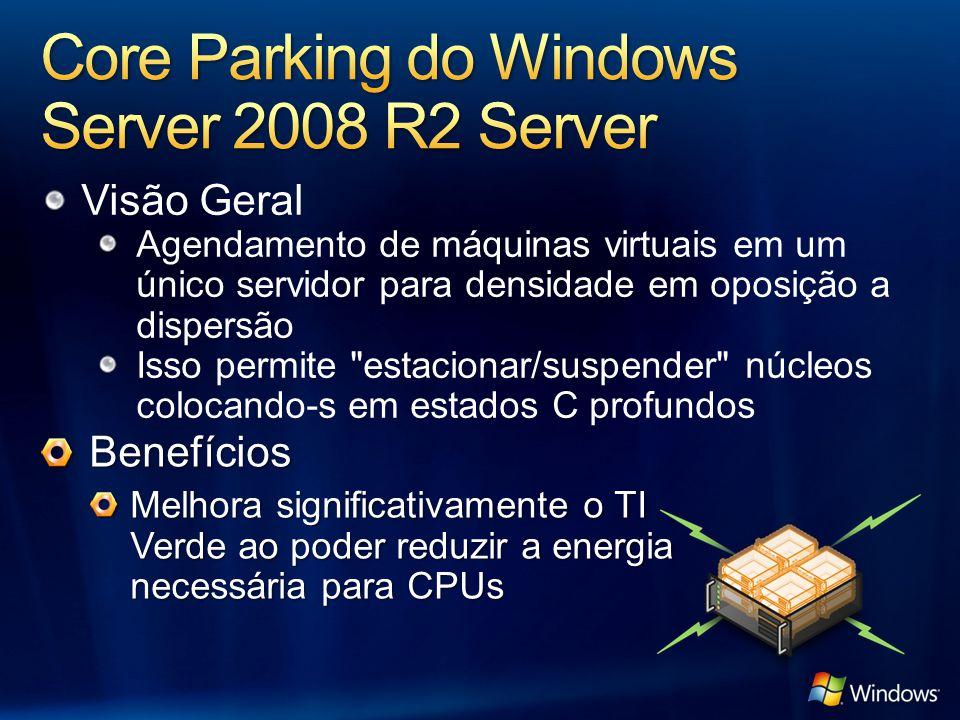 Visão Geral Agendamento de máquinas virtuais em um único servidor para densidade em oposição a dispersão Isso permite