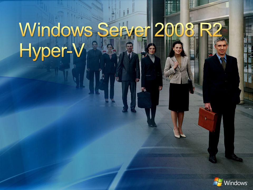 Baseado na arquitetura sólida do Windows Server 2008 Hyper-V Integração com novas tecnologias Capacitação de novos cenários dinâmicos: Maior Consolidação de Servidores Datacenter Dinâmico Estação de Trabalho Centralizada Virtualizada