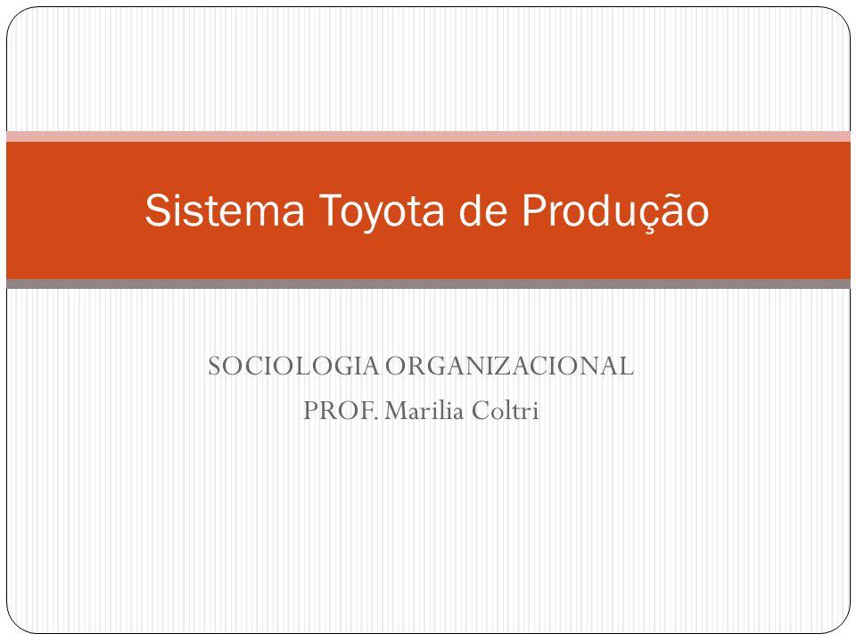 SOCIOLOGIA ORGANIZACIONAL PROF. Marilia Coltri Sistema Toyota de Produção