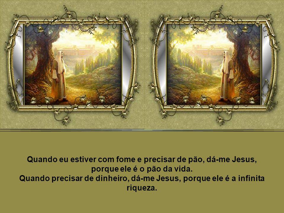 Quando sentir desânimo, dá-me Jesus, porque ele é a vitória.