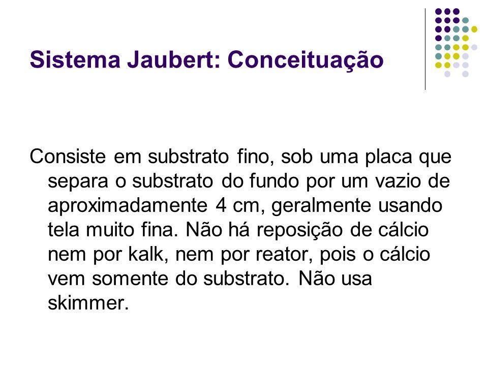 Sistema Jaubert: Conceituação Consiste em substrato fino, sob uma placa que separa o substrato do fundo por um vazio de aproximadamente 4 cm, geralmen