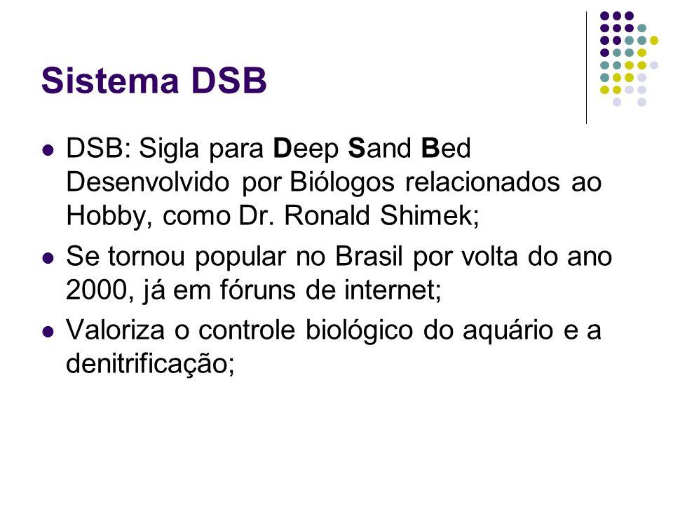 Sistema DSB DSB: Sigla para Deep Sand Bed Desenvolvido por Biólogos relacionados ao Hobby, como Dr. Ronald Shimek; Se tornou popular no Brasil por vol