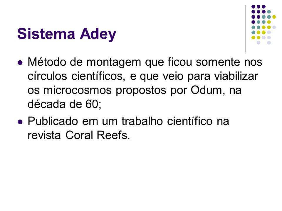 Sistema Adey Método de montagem que ficou somente nos círculos científicos, e que veio para viabilizar os microcosmos propostos por Odum, na década de