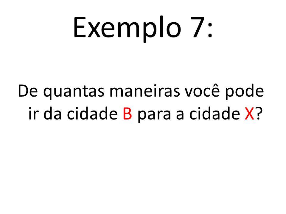 Fazendo a contagem pelo princípio multiplicativo E 1 E 2 E 3 4. 3. 5 = 60 B a X X a A A a Y 60 maneiras de fazer as escolhas E 1, E 2 e E 3, ou seja,