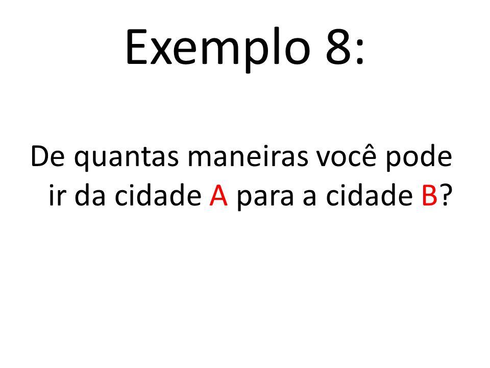 Fazendo a contagem pelo princípio multiplicativo E 1 E 2 E 3 2. 5. 3 = 30 B a Y Y a A A a X 30 maneiras de fazer as escolhas E 1, E 2 e E 3, ou seja,