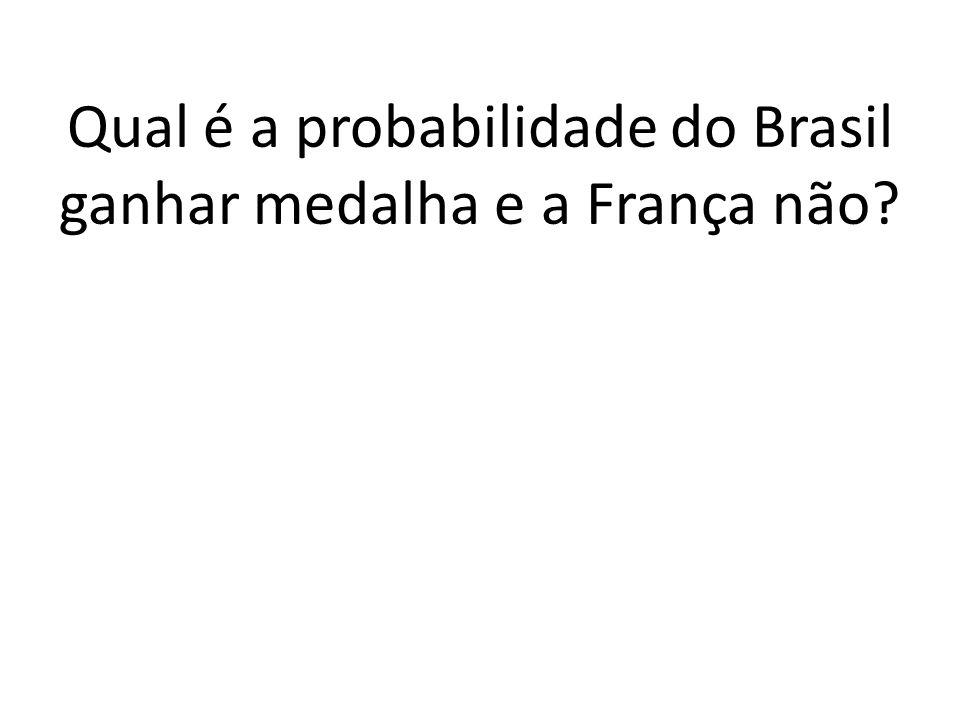 b) Em quantos resultados o Brasil recebe medalha, mas a França não? E 1 E 2 E 3 1. 13. 12 = 156 ou Brasil + 13. 1. 12 = 156 ou Brasil + 13. 12. 1 = 15