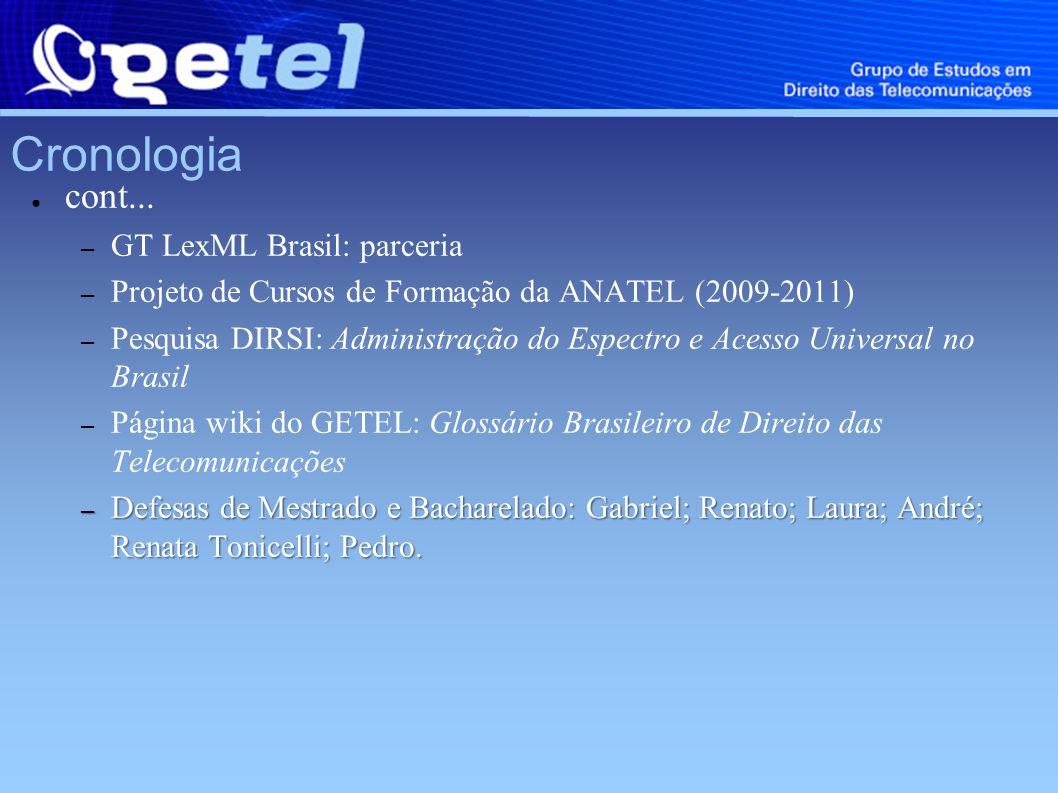 Cronologia 2010 – Publicação impressa (RDET, Vol.1, N.