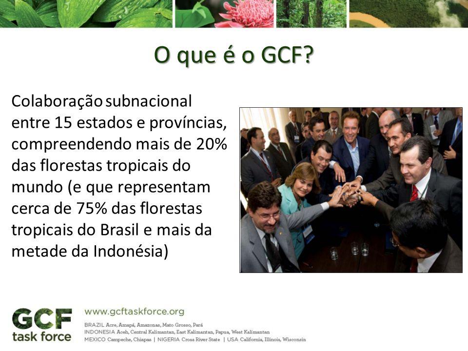 O que é o GCF? Colaboração subnacional entre 15 estados e províncias, compreendendo mais de 20% das florestas tropicais do mundo (e que representam ce