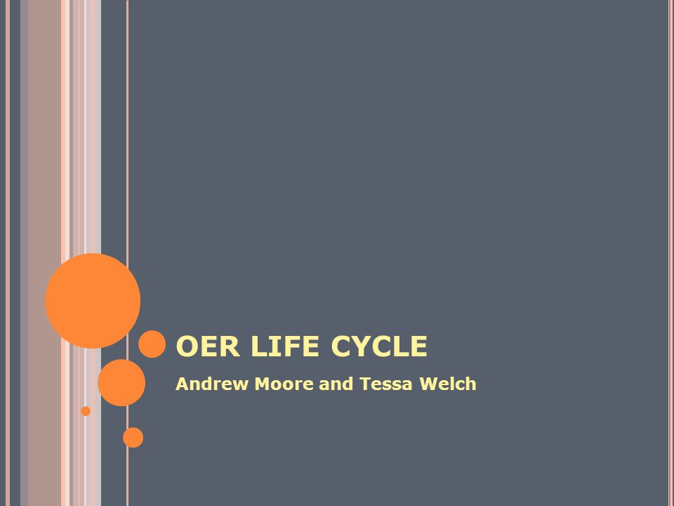 OER LIFE CYCLE GET Find OER Compose (Piece Together) Adapt to Local Contexts Produce a Learning Resource Deploy and Use Resource Refine Learning Resource Share and make available for reuse