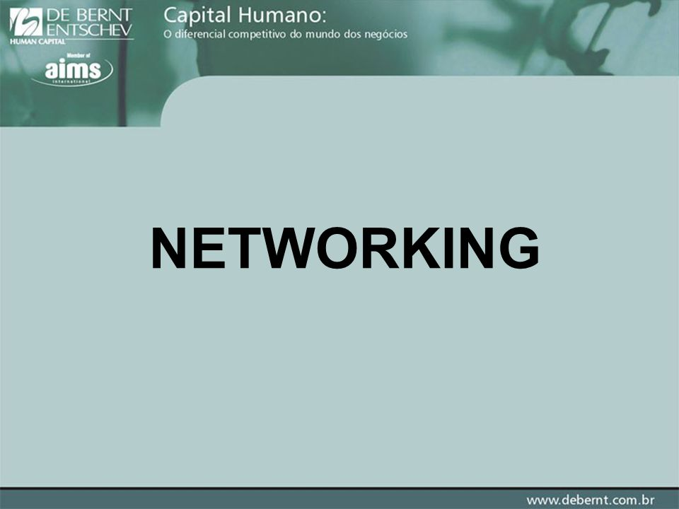 NETWORKING TEORIA DO PEQUENO MUNDO ( Stanley Milgran ) ALLAN 10 100 1000 10000 100000 1000000 EX.