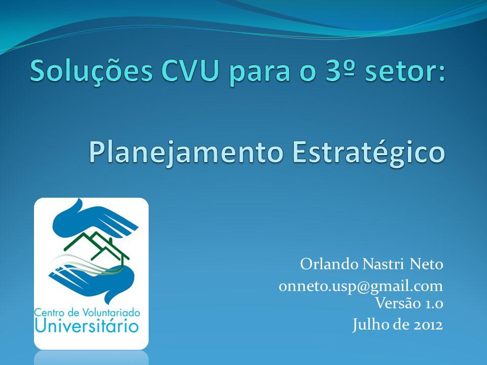 Passos Conceito Contexto Geral Missão, Visão e Valores Diagnóstico Ambiente Externo Fatores Críticos de Sucesso Objetivos Plano de Ação