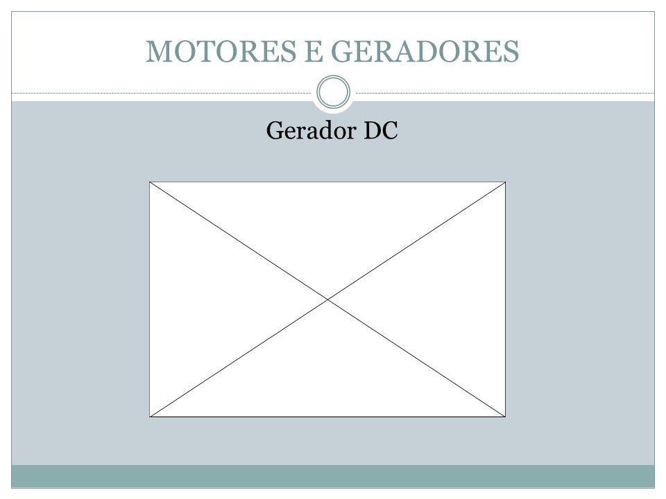 MOTORES E GERADORES Gerador DC