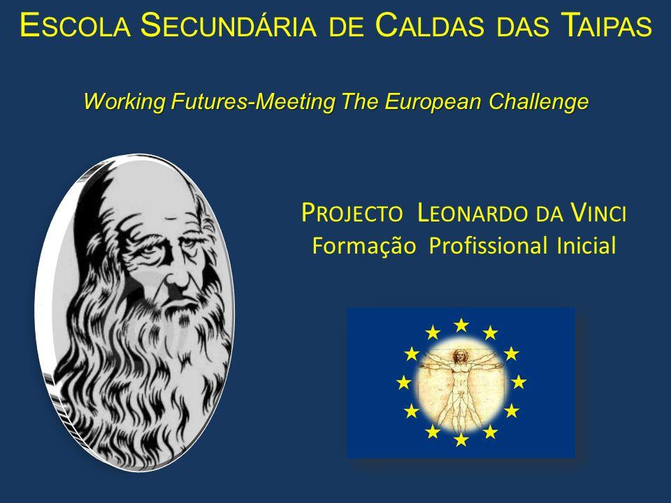 Working Futures-Meeting The European Challenge P ROJECTO L EONARDO DA V INCI Formação Profissional Inicial E SCOLA S ECUNDÁRIA DE C ALDAS DAS T AIPAS