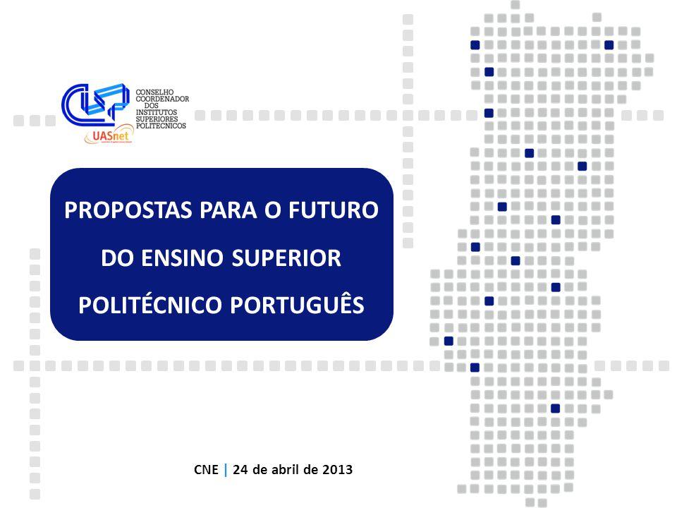 PROPOSTAS PARA O FUTURO DO ENSINO SUPERIOR POLITÉCNICO PORTUGUÊS CNE | 24 de abril de 2013