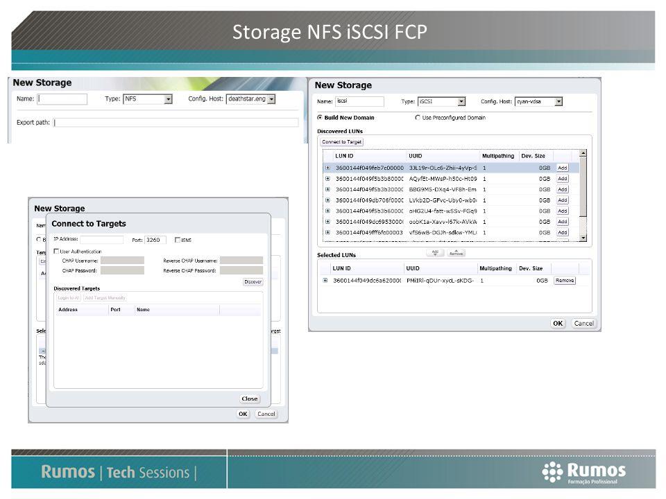 Storage NFS iSCSI FCP