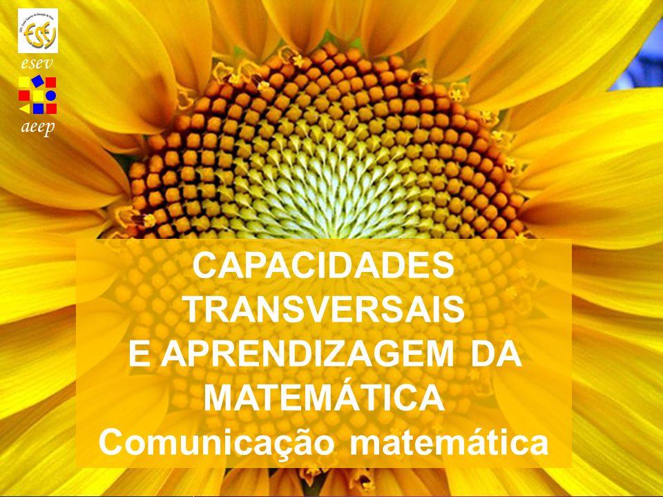 aeep CAPACIDADES TRANSVERSAIS E APRENDIZAGEM DA MATEMÁTICA Comunicação matemática esev