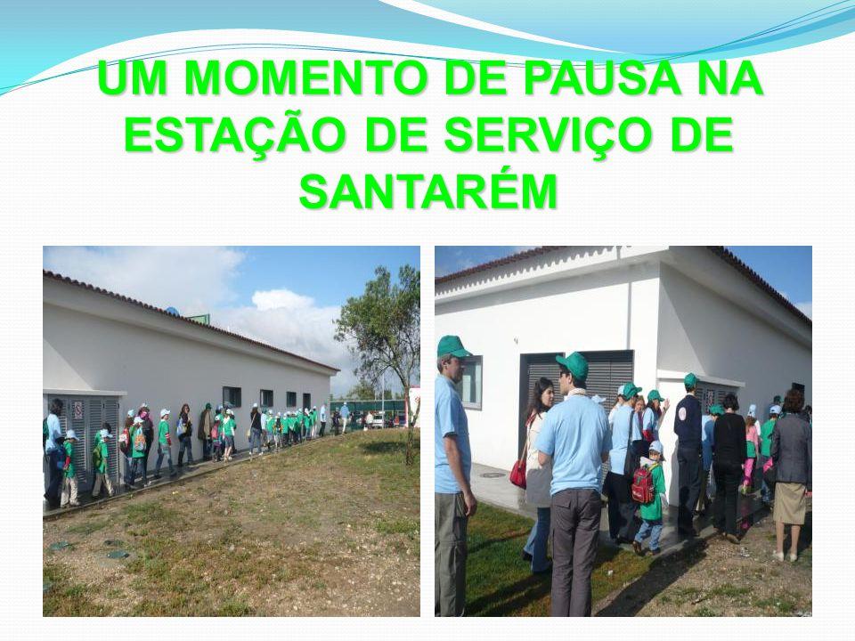 UM MOMENTO DE PAUSA NA ESTAÇÃO DE SERVIÇO DE SANTARÉM