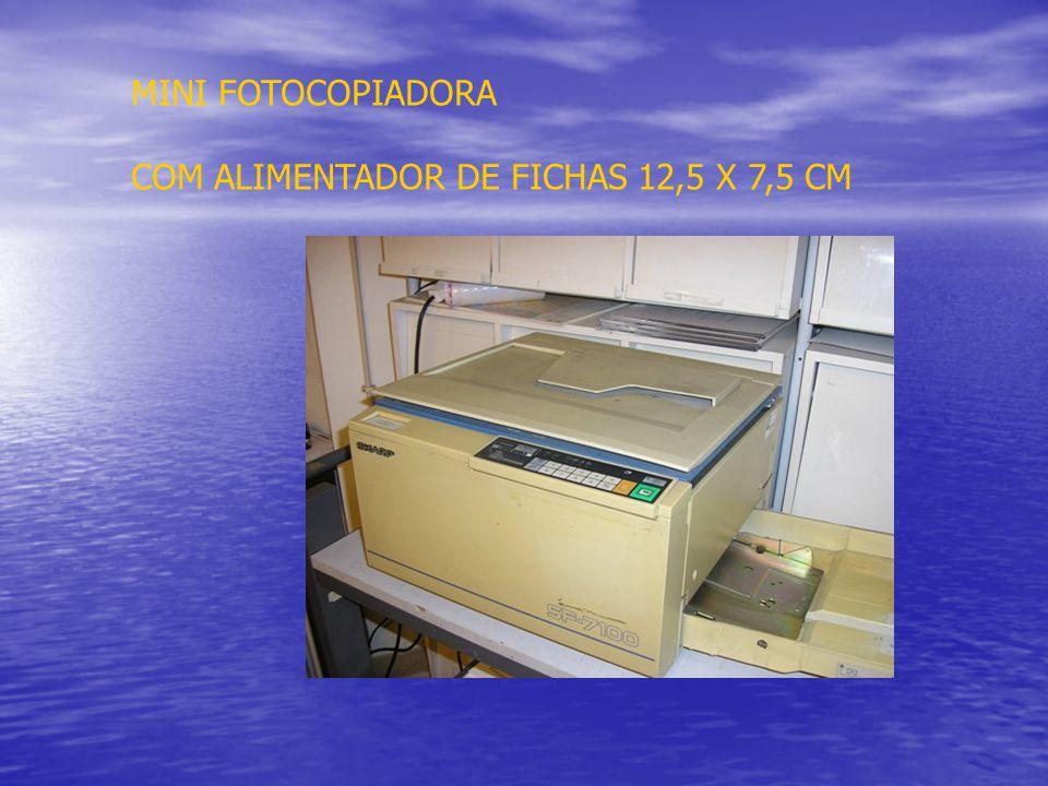 MINI FOTOCOPIADORA COM ALIMENTADOR DE FICHAS 12,5 X 7,5 CM