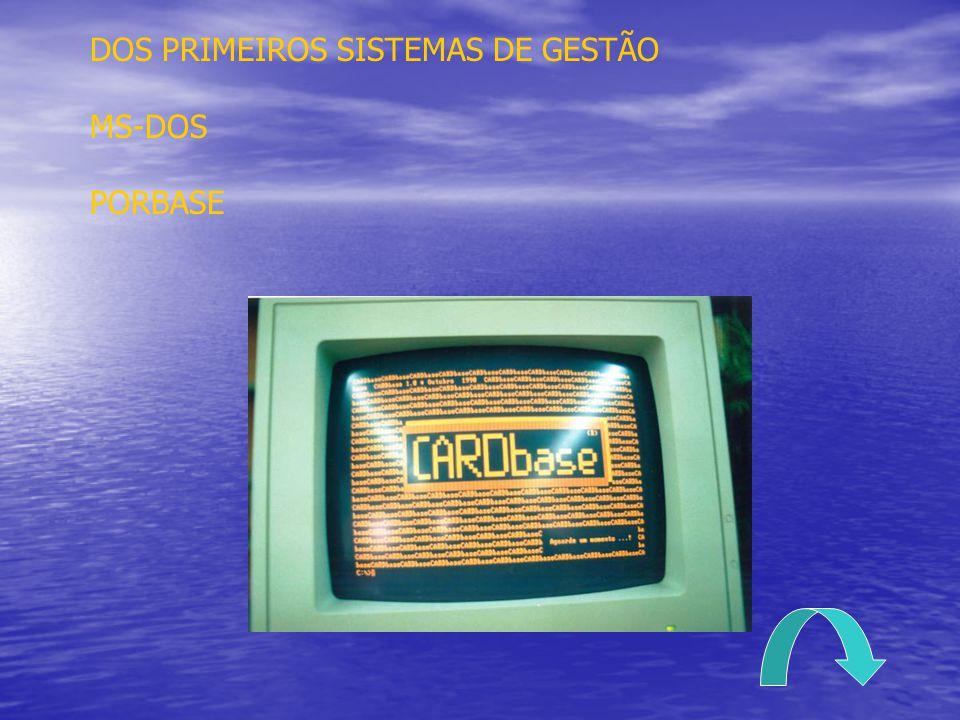DOS PRIMEIROS SISTEMAS DE GESTÃO MS-DOS PORBASE