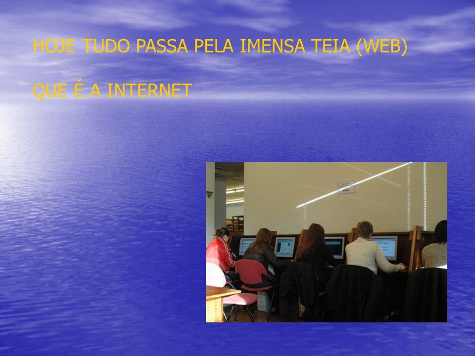 HOJE TUDO PASSA PELA IMENSA TEIA (WEB) QUE É A INTERNET