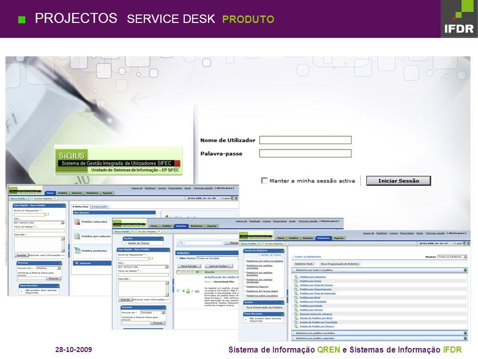 28-10-2009 Sistema de Informação QREN e Sistemas de Informação IFDR Ambiente FEDER Desenvolvimento Ambiente Fundo Coesão Discoverer SEIS PROJECTOS SIF