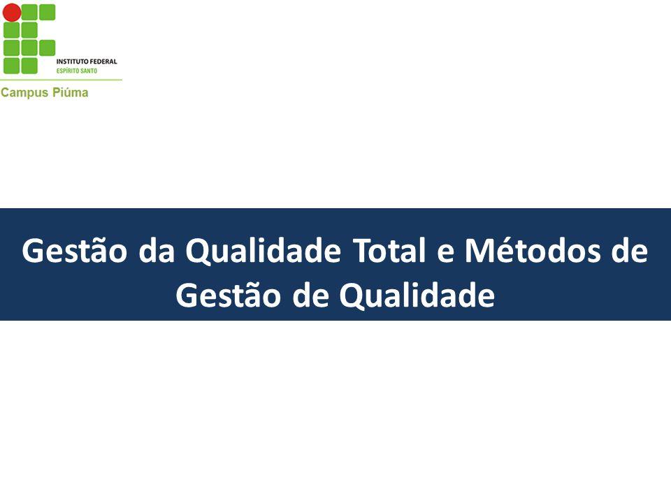 Gestão da Qualidade Total e Métodos de Gestão de Qualidade