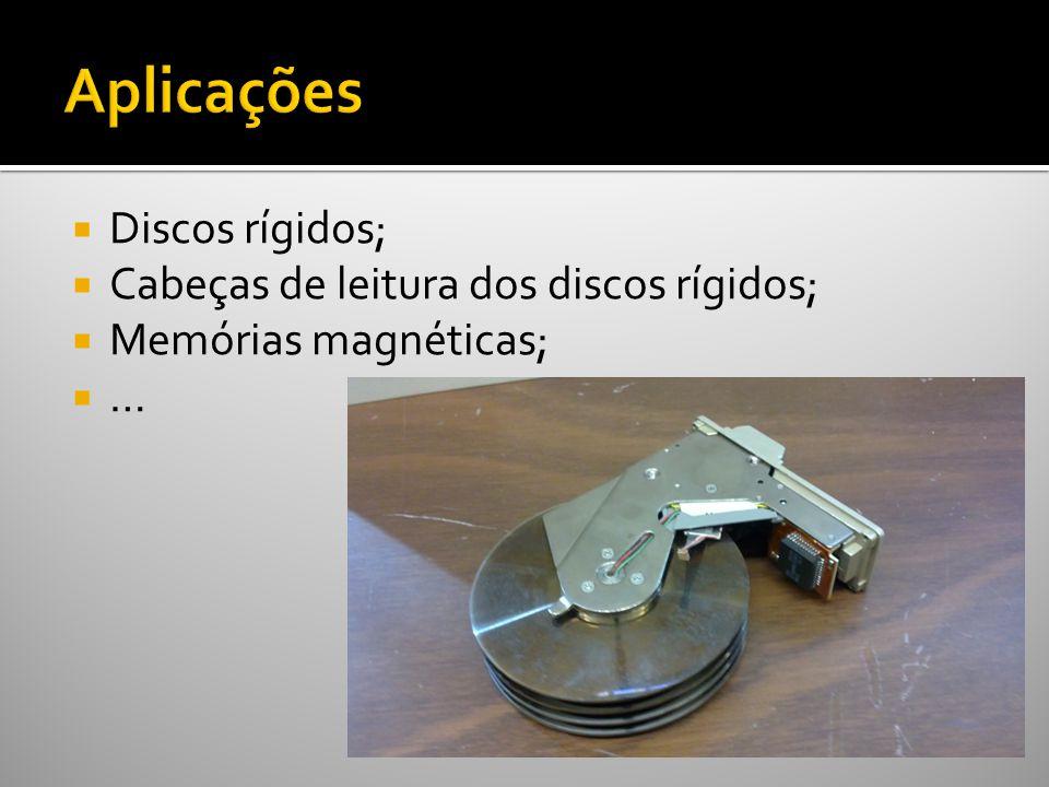 Discos rígidos; Cabeças de leitura dos discos rígidos; Memórias magnéticas; …