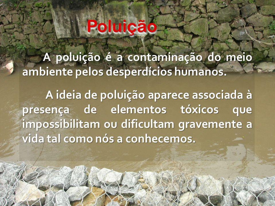PoluiçãoPoluição A poluição é a contaminação do meio ambiente pelos desperdícios humanos.