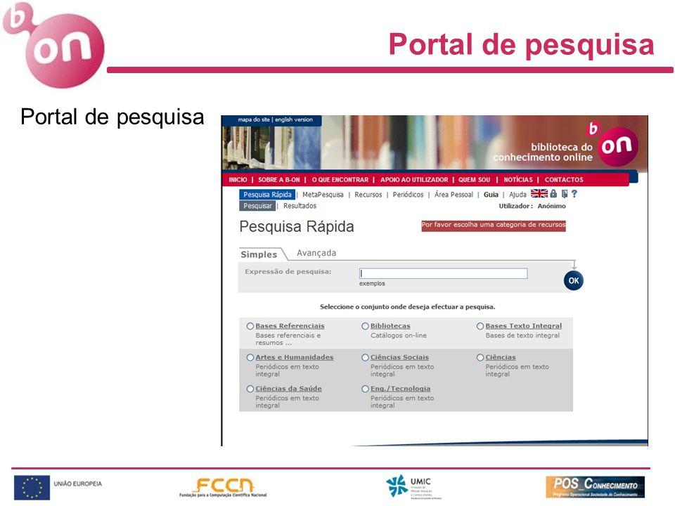 Portal de pesquisa