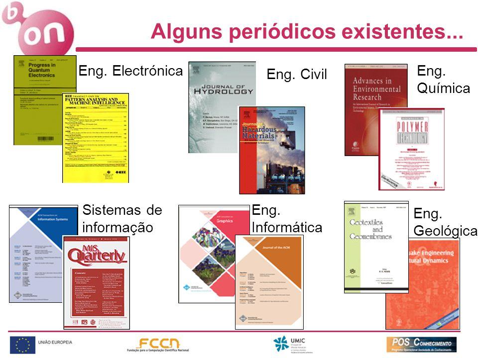 Sistemas de informação Alguns periódicos existentes...