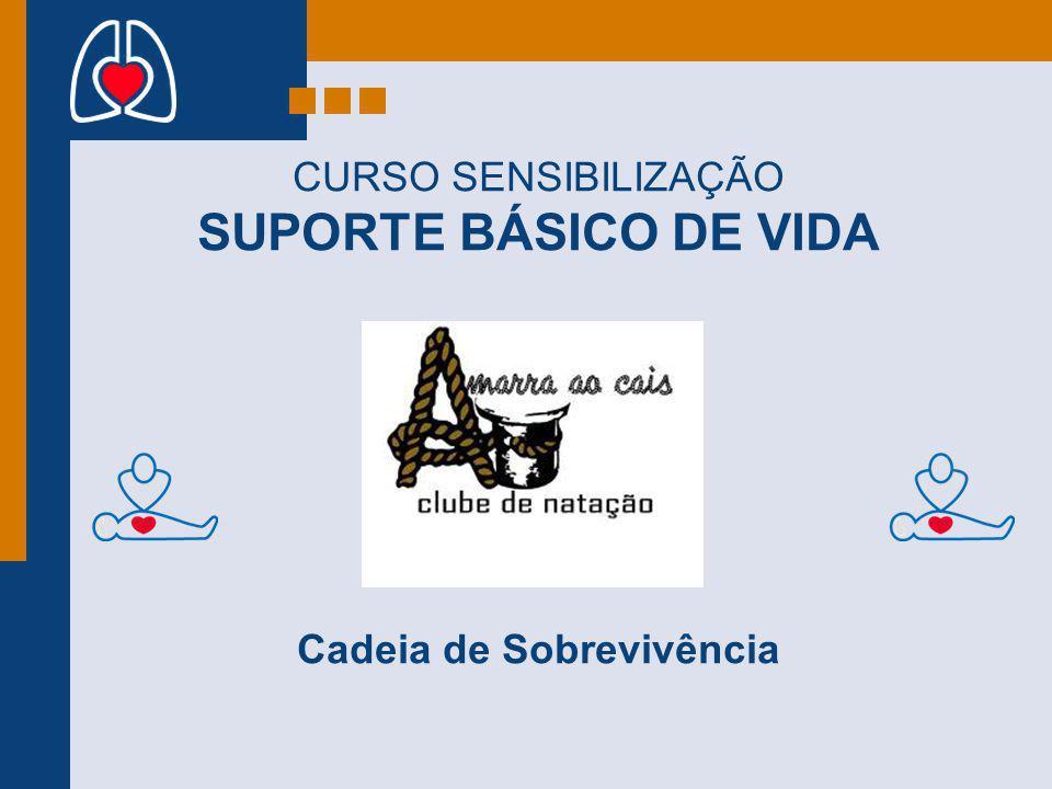 CURSO SENSIBILIZAÇÃO SUPORTE BÁSICO DE VIDA Cadeia de Sobrevivência