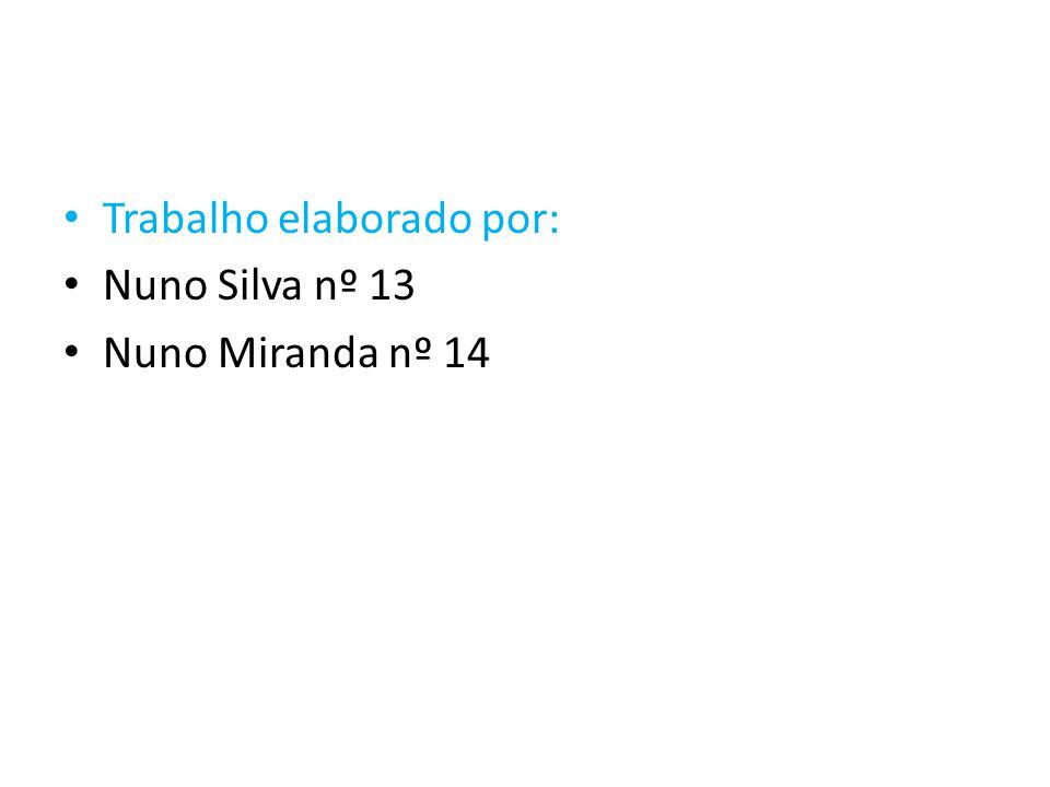 Trabalho elaborado por: Nuno Silva nº 13 Nuno Miranda nº 14