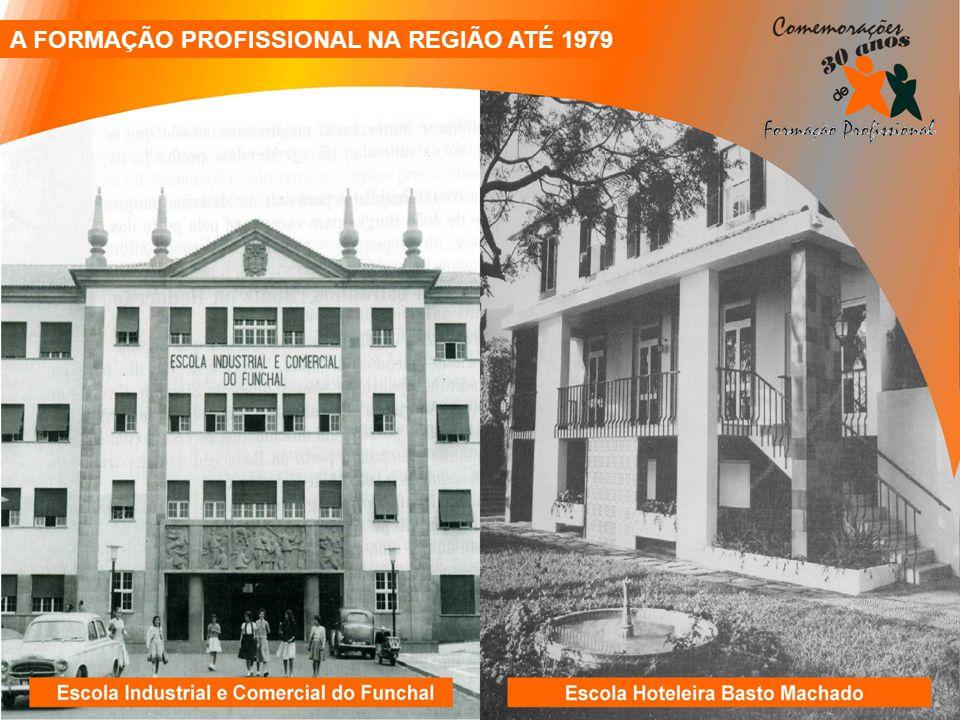 A FORMAÇÃO PROFISSIONAL NA REGIÃO ATÉ 1979